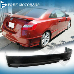 For 06 11 Honda Civic Coupe 2door Hfp Style Urethane Pu Rear Bumper Lip Spoiler