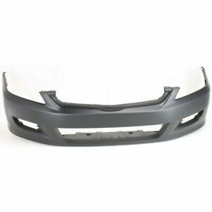 Front Bumper Cover For 2006 2007 Honda Accord Coupe W Fog Light Holes Capa