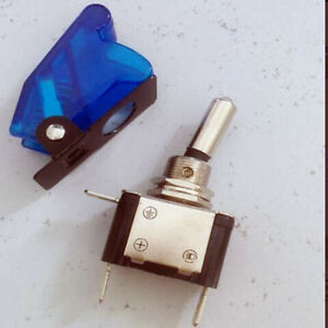 Military Racing Aircraft Style 12v Led Light Toggle Switch Safety Cover wcb