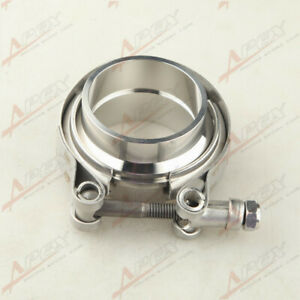 2 V Band Flange Clamp Kit For Turbo Exhaust Downpipes Mild Steel Flange