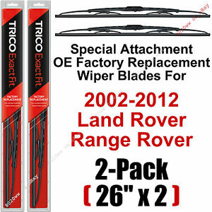 02 12 Land Rover Range Rover Wiper Blades 2 pack 26 Special Trico 26 11 x2