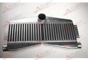 Universal Twin Turbo Intercooler Bar Plate 2 inlet 1 outlet 180x610x90