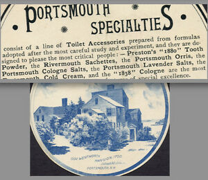Preston 1880 Tooth Powder Cologne Lavneder Salt Portsmouth Nh Mansion Trade Card