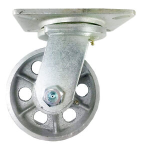 6 X 3 Heavy Duty steel Wheel Caster Swivel