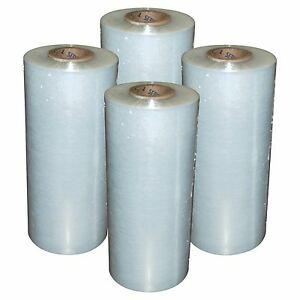 4 Rolls Hand Stretch Wrap Film Banding 18 X 1500 11 5 Micron Usa Made