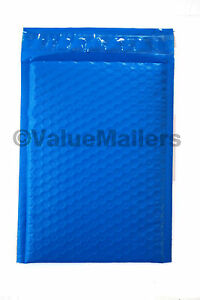 500 000 Blue Poly Bubble Mailers Envelopes Bags 4x8 Extra Wide Colors 4 5