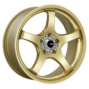 Konig Centigram 19x8 5 5x114 3 Et45 Gold Machined Pcd 4 New Rims