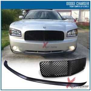 Fits 05 10 Dodge Charger Front Bumper Lip Mesh Grille Black Oe Type