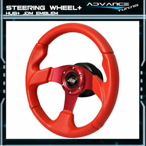For Civic Prelude Rsx Pvc Leather 320mm Steering Wheel Hub Adapter Jdm Horn