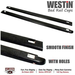 72 41441 Westin Black Bed Rail Caps Dodge Ram 8 Bed 2002 2008