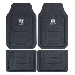 New 4pc Set Gray Dodge Ram Factory Style Car Truck Heavy Duty Rubber Floor Mats