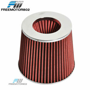 Red Kn Tpye Air Filter Intake Universal For Most Car 3 5 Inch Performance Inlet