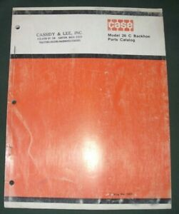 Case Model 26c Backhoe Parts Manual For 350 450 Dozer W14 Loader 1207