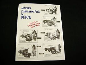 Buick Dynaflow Parts List Identification Guide Oem Lempco Numbers 48 63 Manual