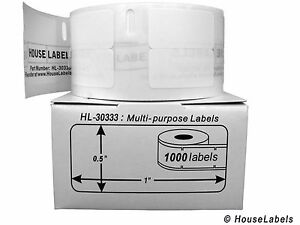 100 Rolls Of 1 000 Multipurpose Labels In Cartons For Dymo Labelwriters 30333