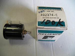 New Reliance Electric Potentiometer 402374 e 402374e A r100k l 25
