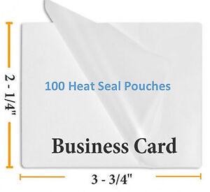 5 Mil Business Card Size Heat Sealing Laminating Pouches 100 2 25 X 3 75 Inches