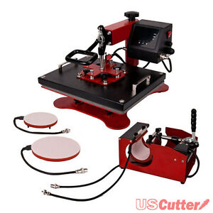 5in1 Heat Press Machine Digital Transfer Sublimation T shirt Plate Hat Mug cup
