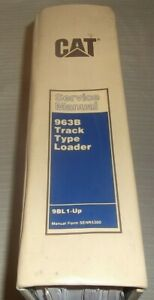 Cat Caterpillar 963b Track Loader Shop Repair Service Manual S n 9bl1 up