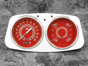 33 34 Ford Car Billet Aluminum Gauge Panel Dash Insert Instrument Cluster