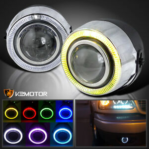 7 Color Halo 4 Projector Drl Fog Lights Bumper Lamp Switch