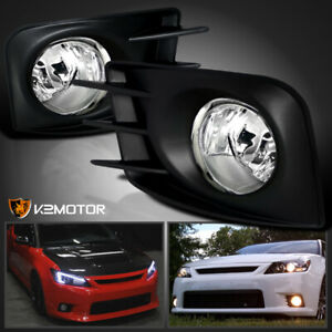 2011 2013 Scion Tc Clear Daytime Running Bumper Fog Lights switch Wiring Cover