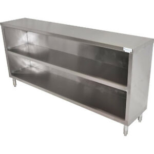 Commercial Stainless Steel Dish Cabinet 48 Length Bar Restaurant Storage