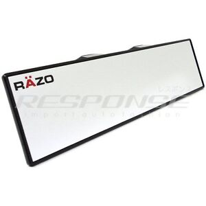 Razo Rg22 Clip On Wide Rear View Mirror 300mm 12 Flat Universal Fitment Jdm