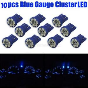 10x 2825 W5w 194 Gauge Cluster Instrumental T10 Wedge Blue 12v Led Light Bulbs
