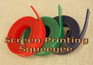 Screen Printing Squeegee Single 50mm X 9mm X12 144 roll 75 Duro green Color