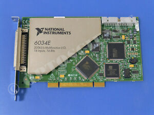 National Instruments Pci 6034e Ni Daq Card 16 Bit Analog Input Multifunction