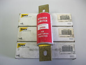 Bussmann 64200 Welder Limiter 600 Volt Fuses Lot Of 3 Nib