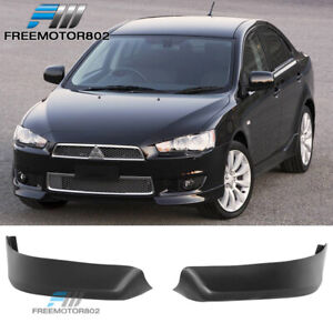 For 08 15 Mitsubishi Lancer Oe Style Pp Front Bumper Lip Spoiler Bodykit 2pc