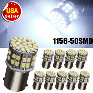 10x 7000k White 1156 Ba15s 18smd 5050 Chip Led Turn Signal Brake Led Light Bulbs