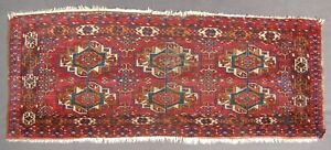 Collector S Mid 19thc Antique Tekke Turkoman 6 Gul Torba With Silk Highlights