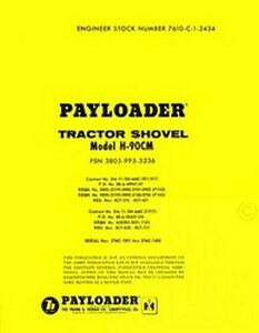 International Harvester H 90 C H 90cm Pay Loader Tractor Service Parts Manual Ih