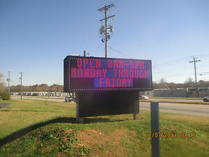 Zipvision Led 2 Sided Full Color Programmable Outdoor Led Sign made In Usa