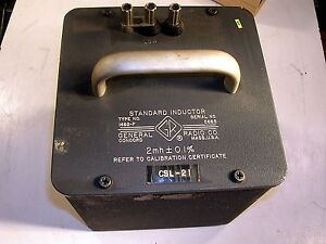 General Radio Standard Inductor Model 1482 f Tested Good