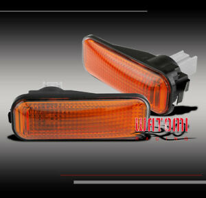 96 00 Honda Civic Front Side Marker Signal Lights Lamps Jdm Amber 97 98 99 Cx Dx