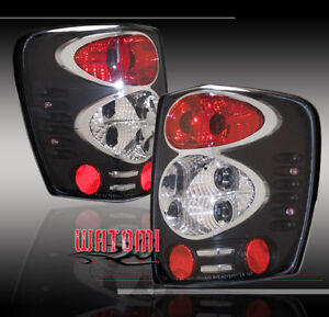 1999 2004 Jeep Grand Cherokee Tail Lights Blk 2002 2003