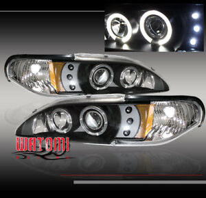 1994 1998 Ford Mustang Projector Headlight Bk 1996 1997