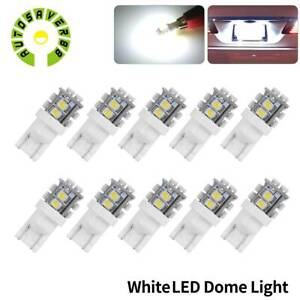 10pcs T10 White Led 10 Smd Wedge Interior Dome Map Light Bulbs W5w 2825 158 192