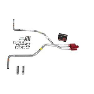 S10 S15 83 94 Dual Exhaust 2 25 Pipe Cherry Bomb Extreme Rw Tip Side Exit