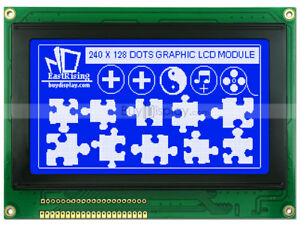 Blue 240x128 Graphic Lcd Module Display ra6963 t6963 optional Touch Screen
