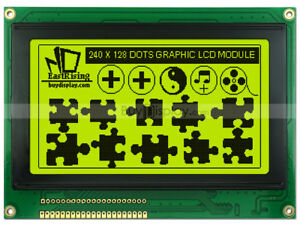 240x128 Graphic Lcd Module Display ra6963 t6963 Controller optional Touch Panel