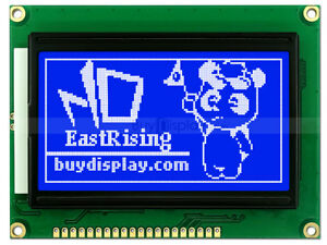 12864 128x64 Blue Graphic Lcd Module Display st7920 Controller serial Interface