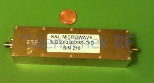 Rf If Microwave Bandpass Filter 347 Mhz 73 Mhz Bw Power 20 Watt Tested Data