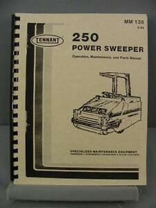 Tennant 250 Power Sweeper Operation Maintenance Parts Manual