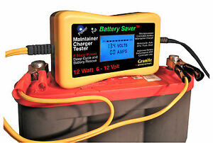 Battery Saver 6 12 Volt Auto Battery Charger Maintainer Tester 12 Watt