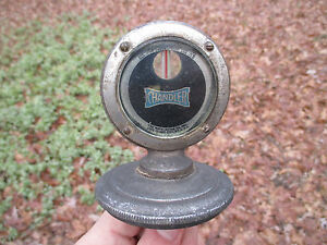 Chandler Radiator Hood Ornament Mascot Moto Meter With Thermometer